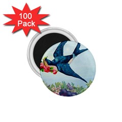 Blue Bird 1 75  Magnets (100 Pack)  by vintage2030