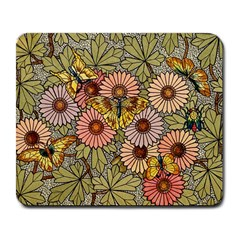 Flower And Butterfly Large Mousepads by vintage2030