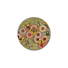 Flower And Butterfly Golf Ball Marker (4 Pack) by vintage2030