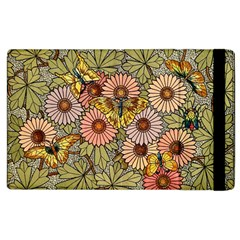 Flower And Butterfly Apple Ipad 3/4 Flip Case by vintage2030