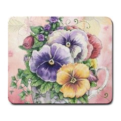 Lowers Pansy Large Mousepads by vintage2030