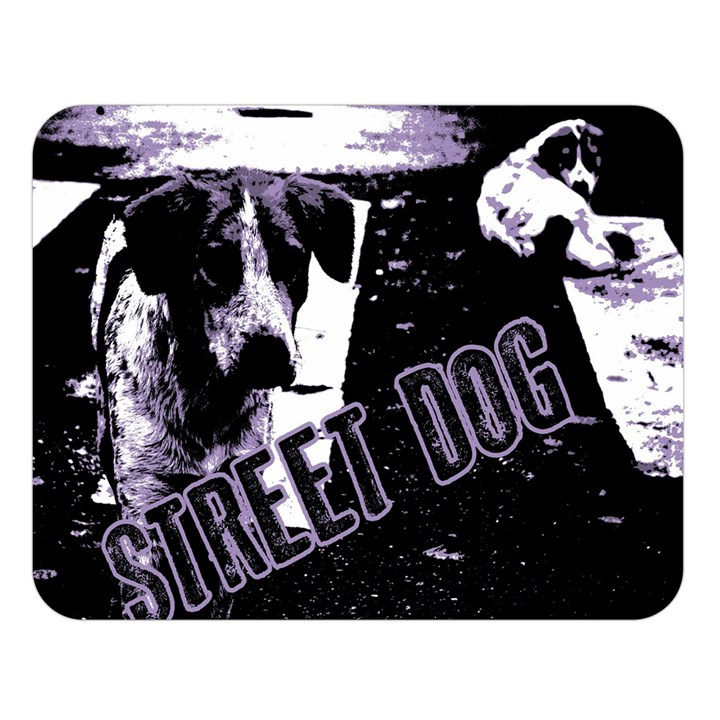 Street dogs Double Sided Flano Blanket (Large)