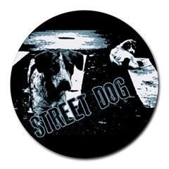 Street Dogs Round Mousepads by Valentinaart