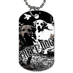 Street Dogs Dog Tag (two Sides) by Valentinaart
