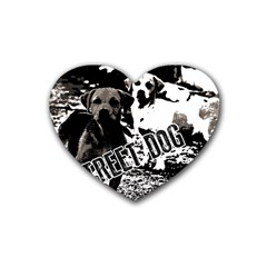 Street Dogs Heart Coaster (4 Pack)  by Valentinaart