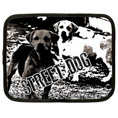 Street Dogs Netbook Case (large) by Valentinaart