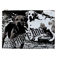 Street Dogs Cosmetic Bag (xxl)  by Valentinaart