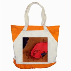 Red Worm Accent Tote Bag by snowwhitegirl