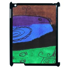 Purple Whale Apple Ipad 2 Case (black) by snowwhitegirl
