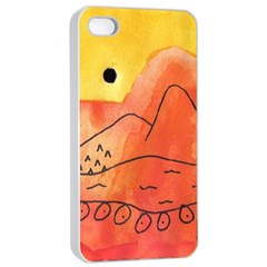 Mountains Apple Iphone 4/4s Seamless Case (white) by snowwhitegirl