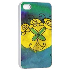 Cross Flowers Apple Iphone 4/4s Seamless Case (white) by snowwhitegirl