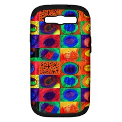 Water Color Eggs Tile Samsung Galaxy S Iii Hardshell Case (pc+silicone) by snowwhitegirl