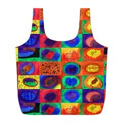 Water Color Eggs Tile Full Print Recycle Bags (l)  by snowwhitegirl
