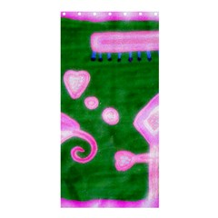 Hearts For The Pink Cross Shower Curtain 36  X 72  (stall)  by snowwhitegirl