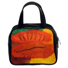 Guy With Weird Haircut Classic Handbags (2 Sides) by snowwhitegirl