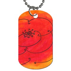 Flower Dog Tag (two Sides) by snowwhitegirl