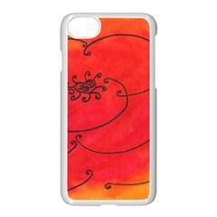 Flower Apple Iphone 7 Seamless Case (white) by snowwhitegirl