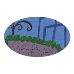 Purple Shoe Oval Magnet by snowwhitegirl