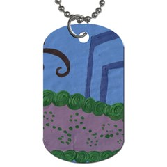 Purple Shoe Dog Tag (one Side) by snowwhitegirl