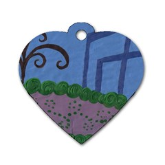 Purple Shoe Dog Tag Heart (one Side) by snowwhitegirl