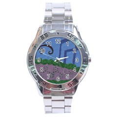 Purple Shoe Stainless Steel Analogue Watch by snowwhitegirl