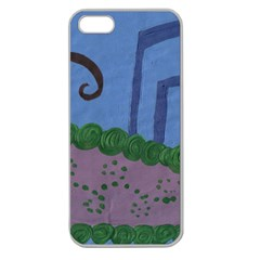 Purple Shoe Apple Seamless Iphone 5 Case (clear) by snowwhitegirl