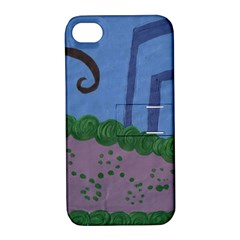 Purple Shoe Apple Iphone 4/4s Hardshell Case With Stand by snowwhitegirl