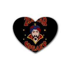 Zoltar Speaks Rubber Coaster (heart)  by Valentinaart