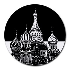 Moscow Round Mousepads by Valentinaart