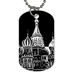 Moscow Dog Tag (two Sides) by Valentinaart