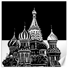 Moscow Canvas 12  X 12   by Valentinaart