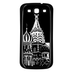 Moscow Samsung Galaxy S3 Back Case (black) by Valentinaart