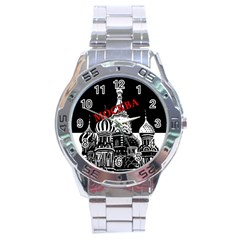Moscow Stainless Steel Analogue Watch by Valentinaart
