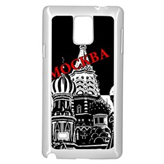 Moscow Samsung Galaxy Note 4 Case (white) by Valentinaart