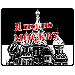 Moscow Fleece Blanket (medium)  by Valentinaart