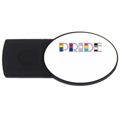 Pride Usb Flash Drive Oval (4 Gb) by Valentinaart
