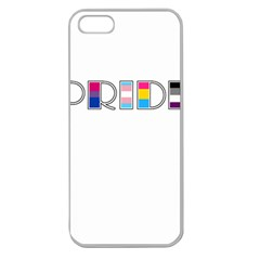 Pride Apple Seamless Iphone 5 Case (clear) by Valentinaart