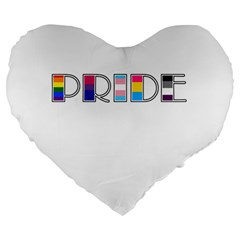 Pride Large 19  Premium Flano Heart Shape Cushions by Valentinaart