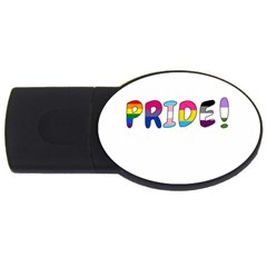 Pride Usb Flash Drive Oval (2 Gb) by Valentinaart