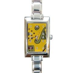 Indian Violin Rectangle Italian Charm Watch by snowwhitegirl