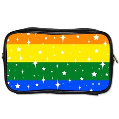 Sparkly Rainbow Flag Toiletries Bags 2 Side by Valentinaart