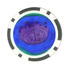 Starry Egg Poker Chip Card Guard by snowwhitegirl