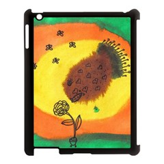 Pirana Eating Flower Apple Ipad 3/4 Case (black) by snowwhitegirl