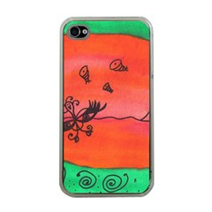 Flying Eyebird Apple Iphone 4 Case (clear) by snowwhitegirl