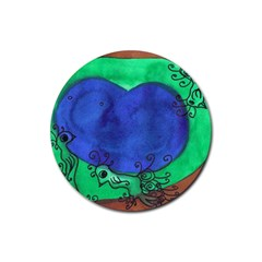 Peacocks Rubber Round Coaster (4 Pack)  by snowwhitegirl