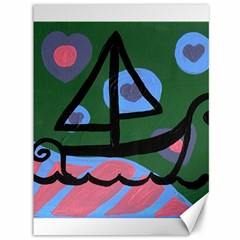 Boat Canvas 36  X 48   by snowwhitegirl
