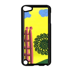 Pink House And Fence Apple Ipod Touch 5 Case (black) by snowwhitegirl