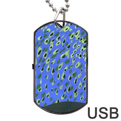 Raining Leaves Dog Tag Usb Flash (one Side) by snowwhitegirl