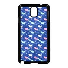 Snow Sleigh Deer Blue Samsung Galaxy Note 3 Neo Hardshell Case (black) by snowwhitegirl