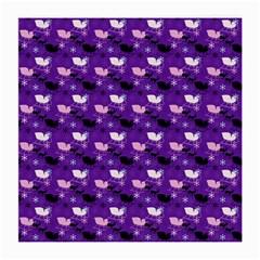 Snow Sleigh Deer Purple Medium Glasses Cloth by snowwhitegirl